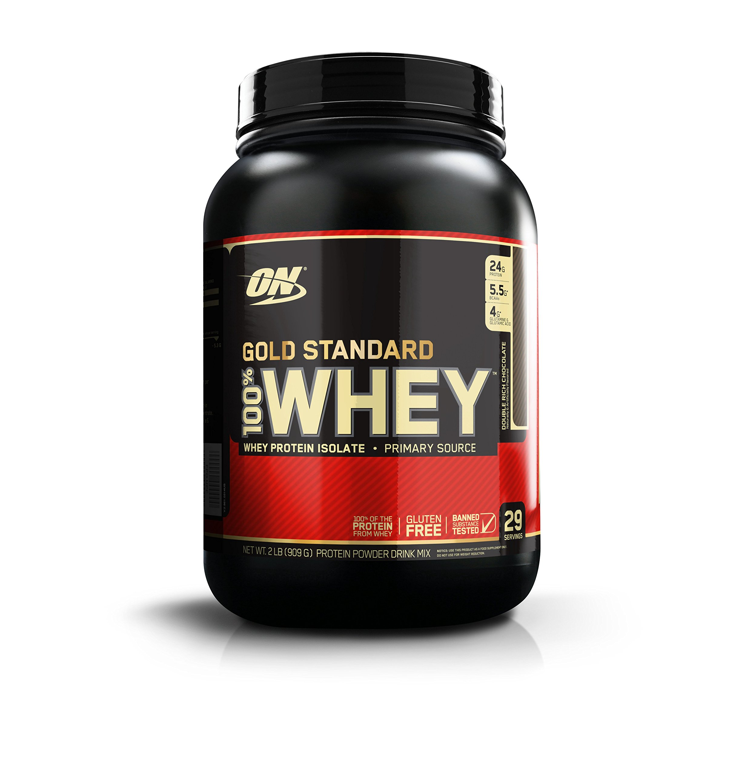 OPTIMUM NUTRITION GOLD STANDARD 100% Whey Protein Powder, Double Rich Chocolate, 2 Pound by Optimum Nutrition