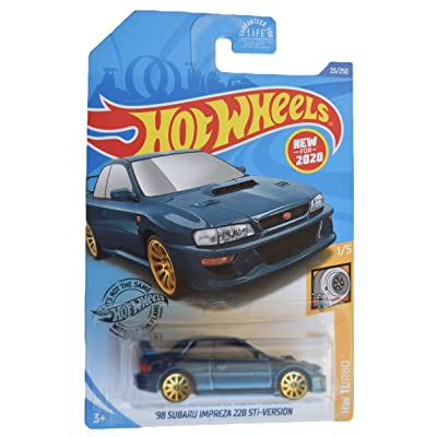 Hot Wheels Turbo 1/5 '98 Subaru Impreza 228 STi-Version 23/250, Blue: Toys & Games