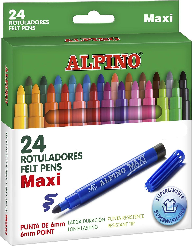 Alpino Maxi - Rotuladores, 24 unidades: Amazon.es: Oficina y papelería