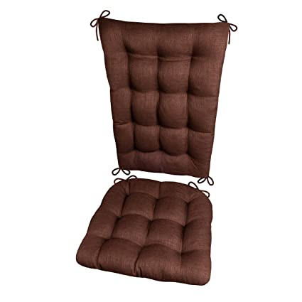 Pleasant Porch Rocker Cushions Rave Chocolate Brown Size Extra Large Indoor Outdoor Fade Resistant Mildew Resistant Latex Foam Filled Seat Pad And Squirreltailoven Fun Painted Chair Ideas Images Squirreltailovenorg