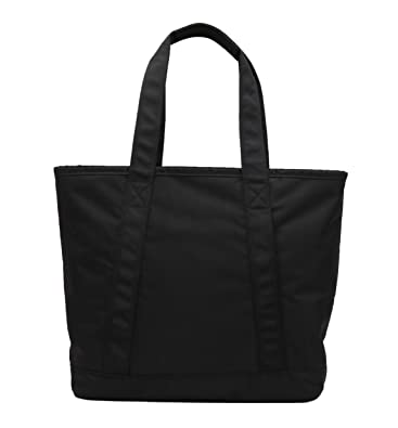 bc63b41f028e Karitco Unisex Light-weight Polyester Tote Bag with Zipper (Classic Black)