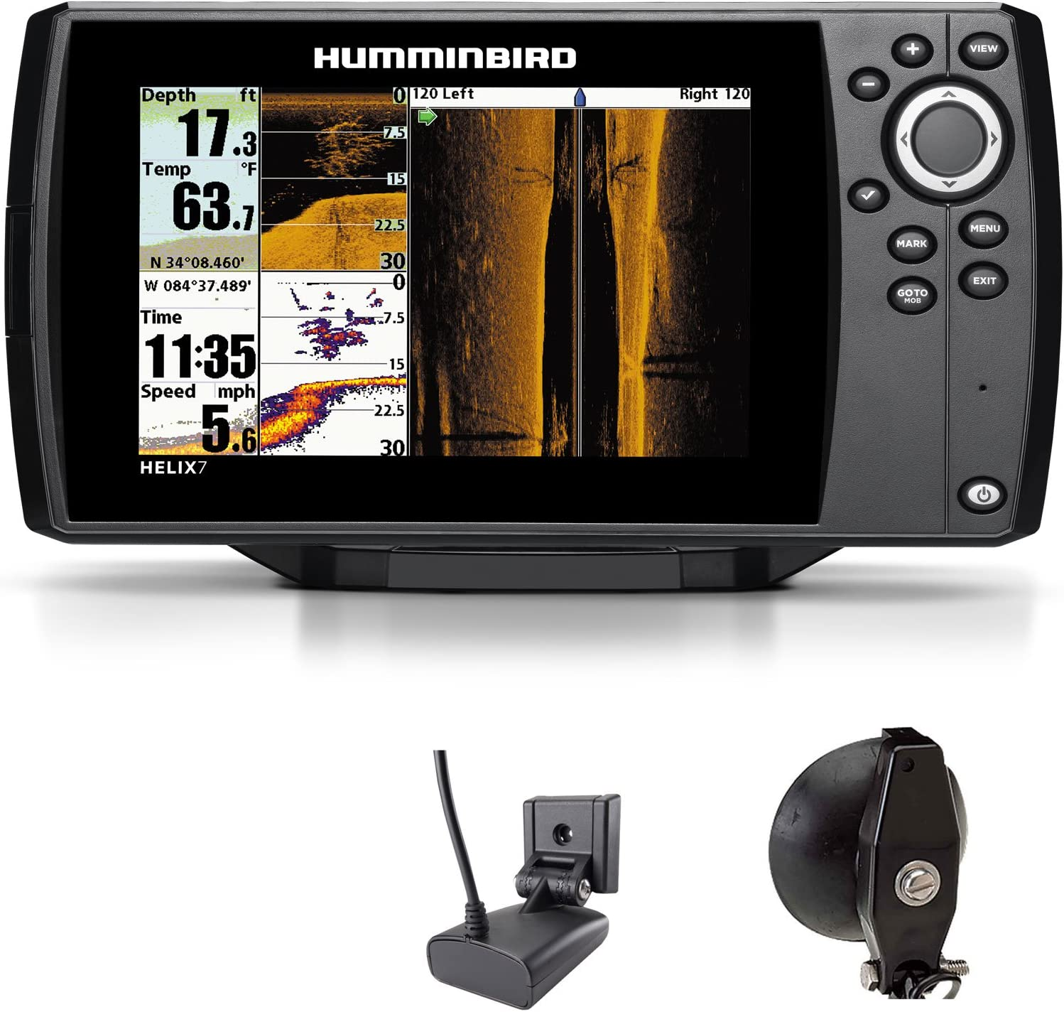 Humminbird Helix 7 SI GPS Side Imaging Echolot Seekarten plotter Combo Portabel Basic: Amazon.es: Deportes y aire libre
