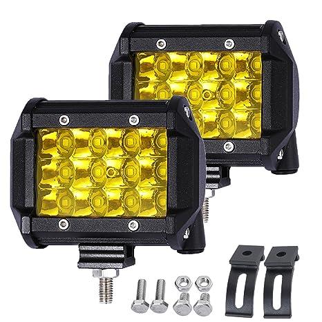 amazon com samlight led light bar 2pcs 36w 4 osram spot driving rh amazon com