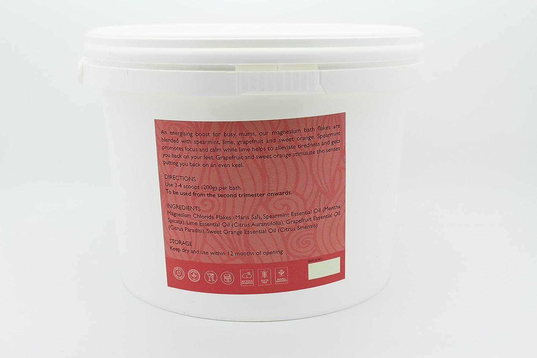 Mar Muerto copos de baño de magnesio para dinamizar, combinado con menta, Lime, pomelo y naranja dulce, perfecto para ocupado mamá 2.0 KGM: Amazon.es: ...