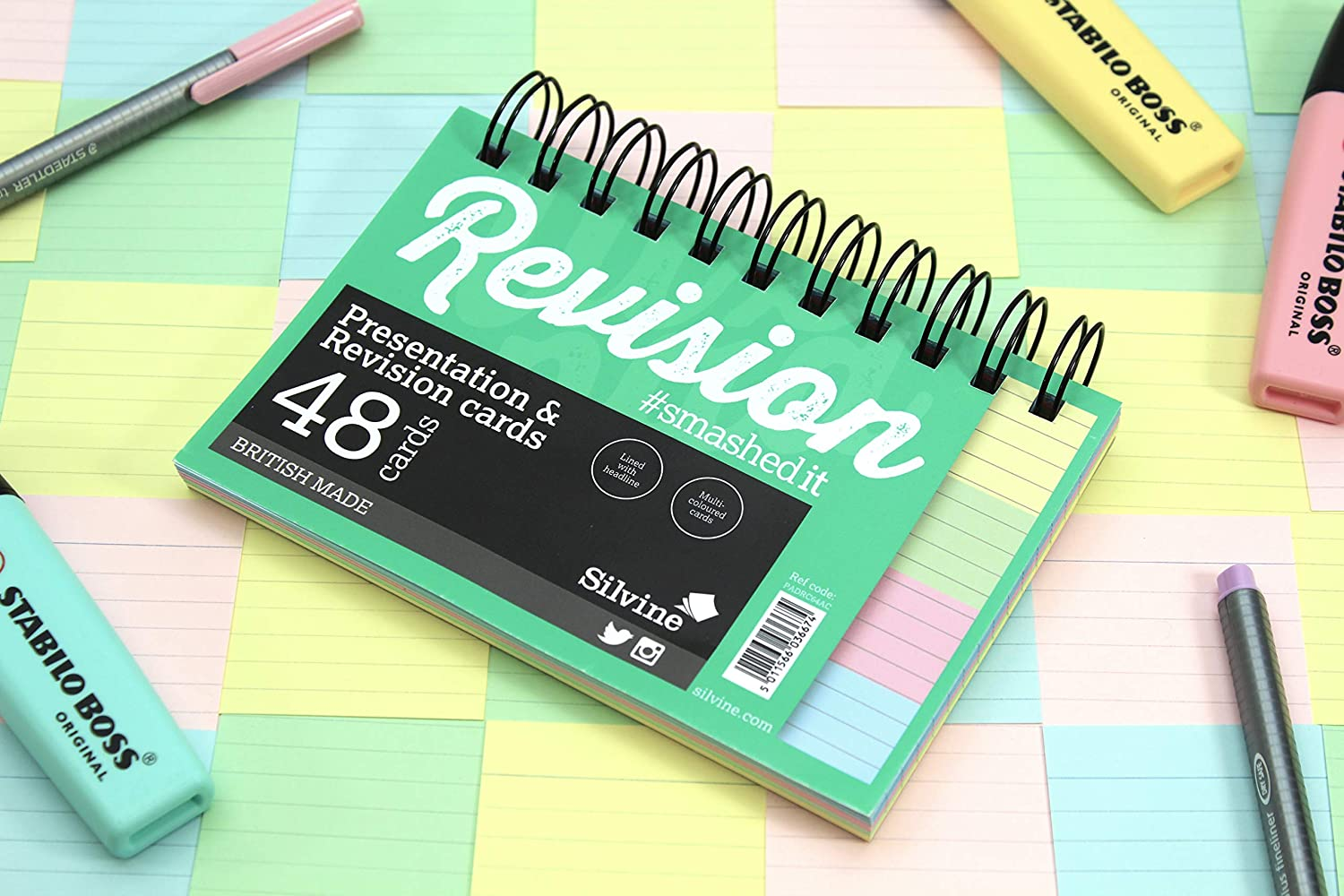 Assorted Colours 3 X Revision and Presentation Cards 152x102mm