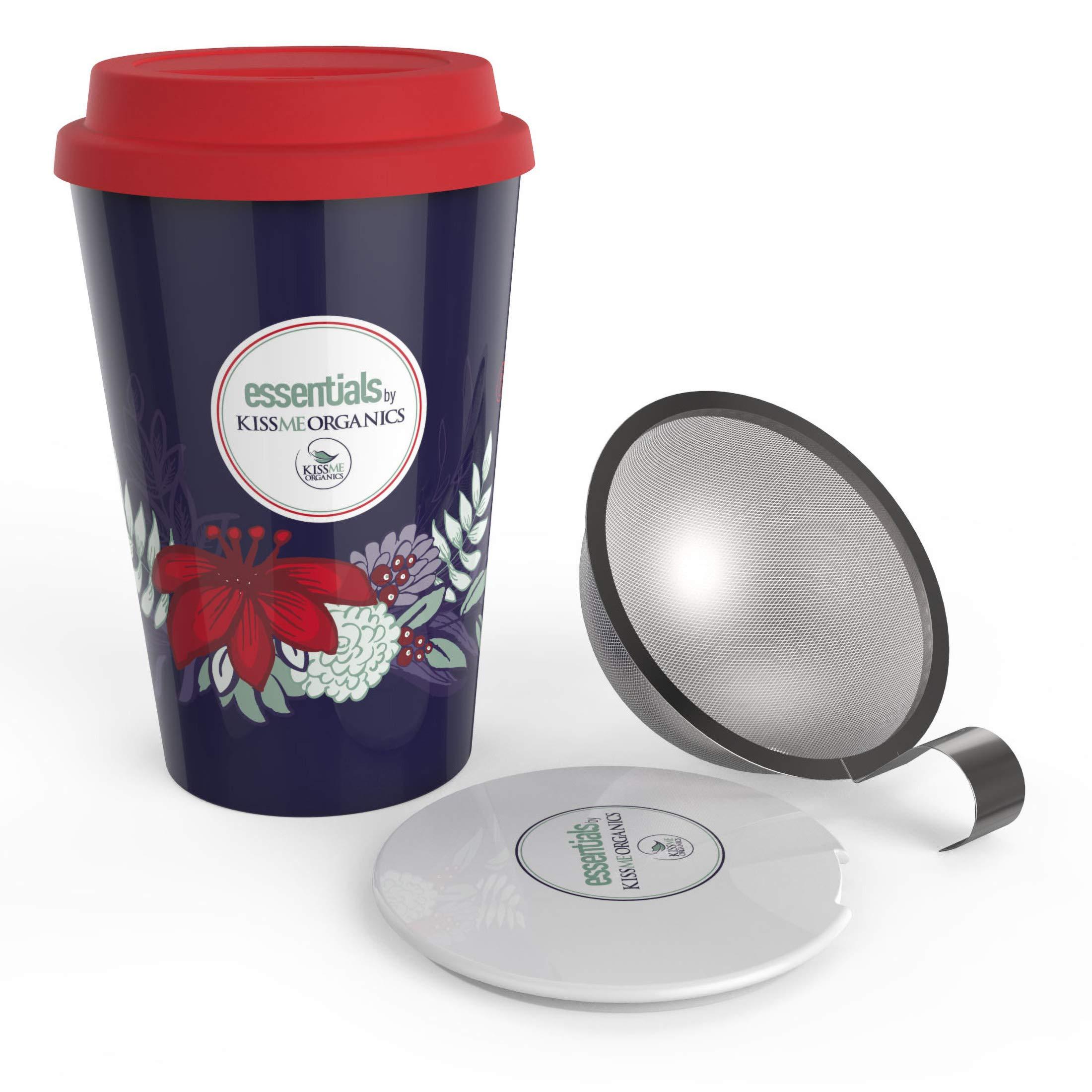 steep strain ceramic tea mug insulated cup with tea. Black Bedroom Furniture Sets. Home Design Ideas