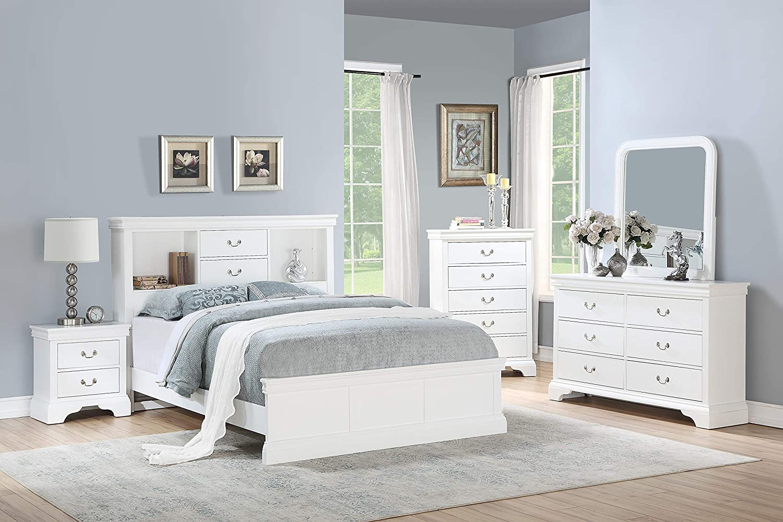 Amazon.com: Esofastore Classic Modern Bedroom Furniture 4pc ...