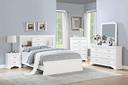 Amazon.com: Esofastore Classic Modern Bedroom Furniture 4pc Set Full ...