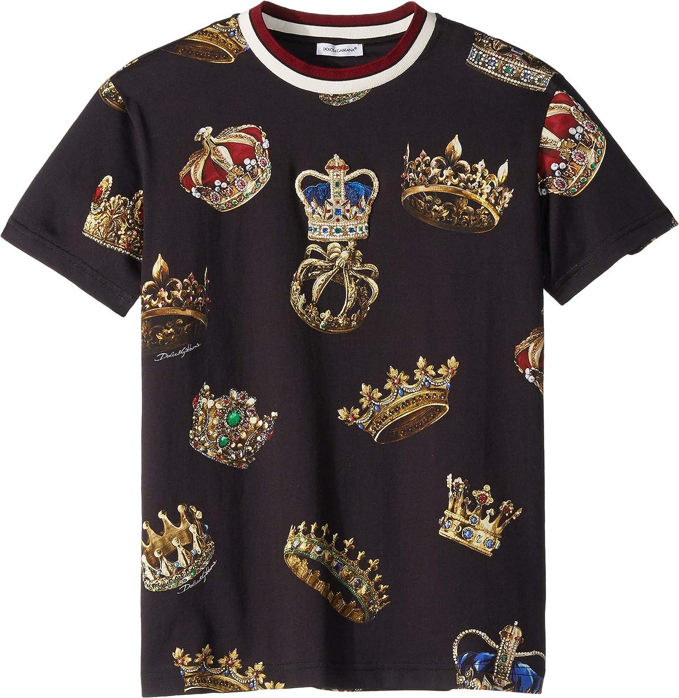 neue bilder von Ausverkauf abgeholt Amazon.com: Dolce & Gabbana Kids Mens D&G Kings T-Shirt (Big ...