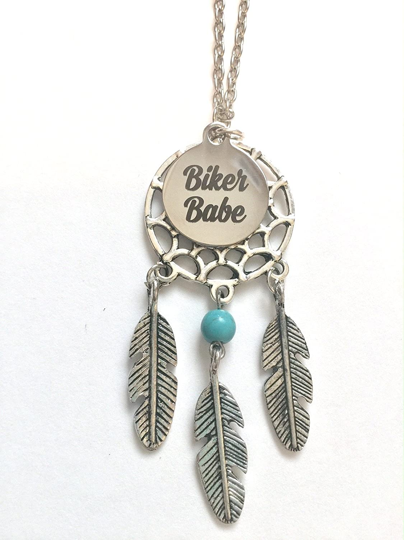 【現品限り一斉値下げ!】 Biker Babe ~ Babe Motorcycle B074Q46C4G Biker LoverドリームキャッチャーチャームネックレスPackaged inギフトボックス B074Q46C4G, オオザトソン:d60411c8 --- arianechie.dominiotemporario.com