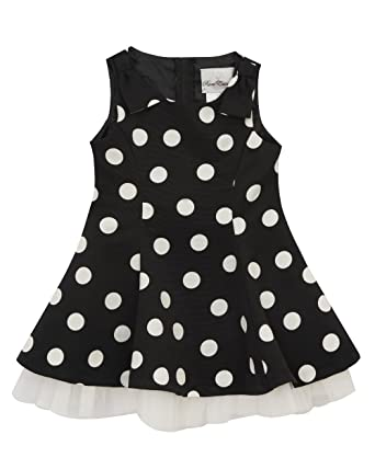 d0a3e472b13c Amazon.com: Rare Editions Girls' Little Dot Fit and Flare Dress ...
