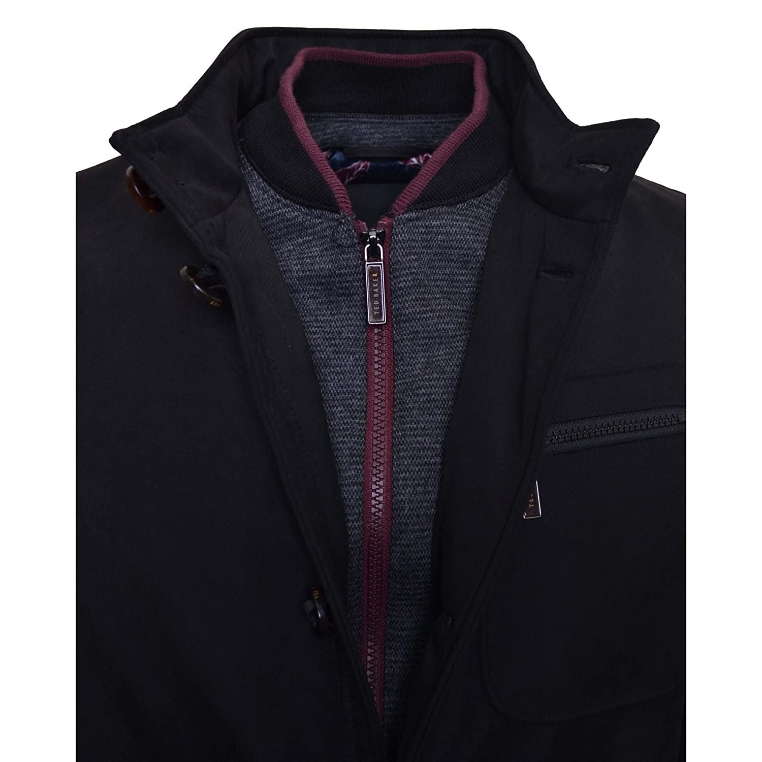 897c0c50d30868 Ted Baker Romeo Funnel Neck Padded Jacket - Black  Amazon.co.uk  Clothing