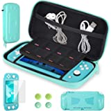 CoBak Carrying Case for Nintendo Switch Lite - Ultra Slim Premium EVA Travel Pouch Protective Cover, 8 Game Cartridges (Green