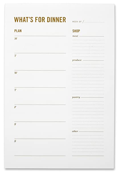 amazon com what s for dinner magnetic meal planning grocery list