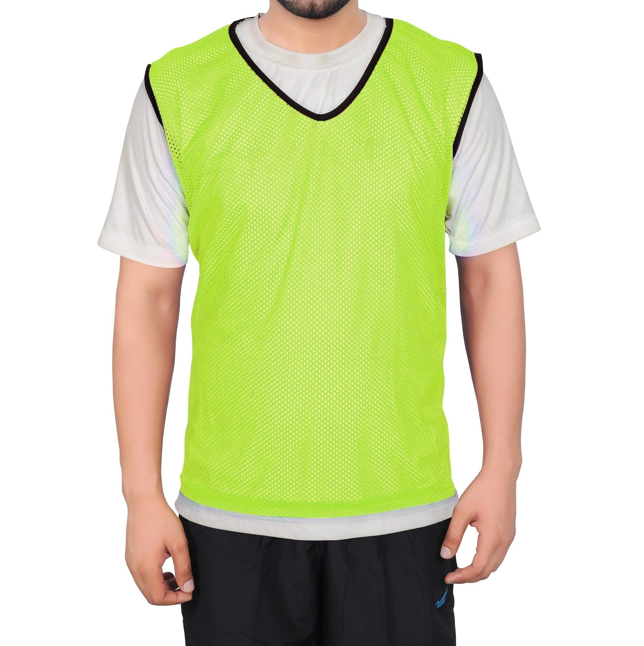 GSi Mesh Sports Training Bibs/Pinnies/Scrimmage/Vests for Soccer, Basketball, Football, Volleyball and Other Team Games (Pack of 6)