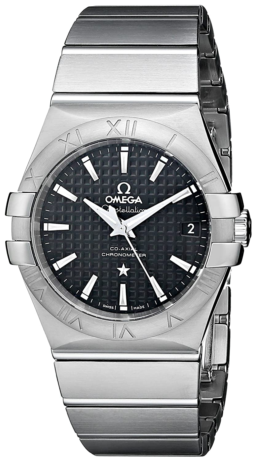 cba3078f36d5 Amazon.com  Omega Men s Constellation Co-Axial Automatic 35mm Analog  Display Swiss Automatic Silver Watch  Omega  Watches