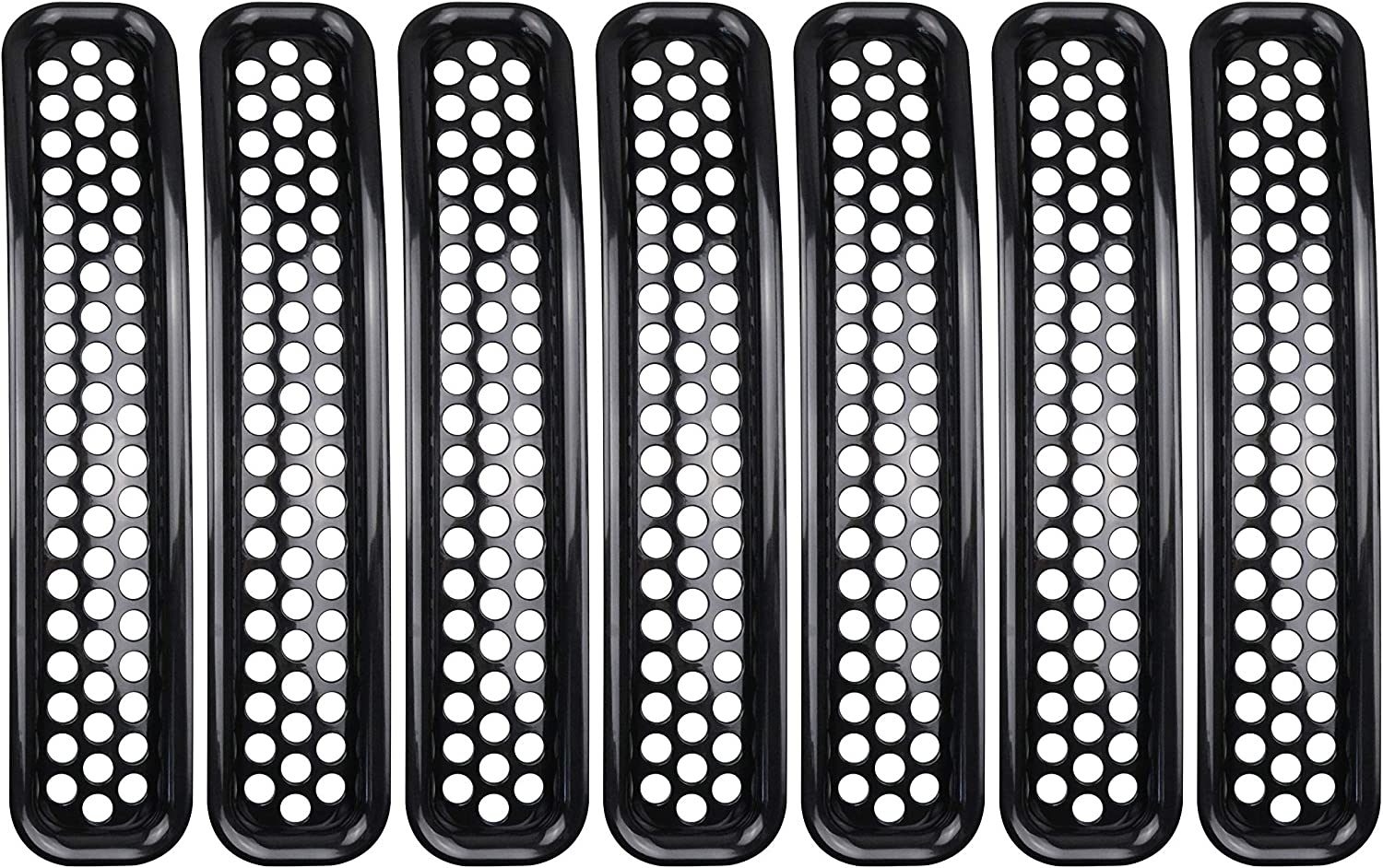 BESTAOO 7pcs Jeep TJ Front Grille Inserts Trim Honeycomb Mesh Inserts for 1997-2006 Jeep Wrangler tj /& Unlimited Black