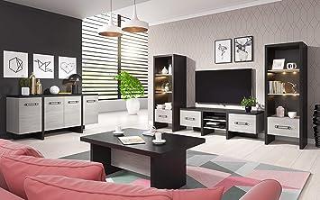 tendencio Salon Complet Olen Style Moderne Gris chêne et ...