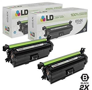 LD Remanufactured Toner Cartridge Replacement for HP 654X CF330X High Yield (Black, 2-Pack)