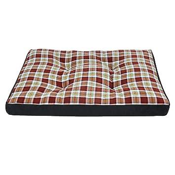 E-starain Cama para Perros Gota para Mascotas Animal del Perrito Sofa del Pieles de venado Acolchada Cómodo Marrón+Negro 80 * 60 * 10cm: Amazon.es: ...