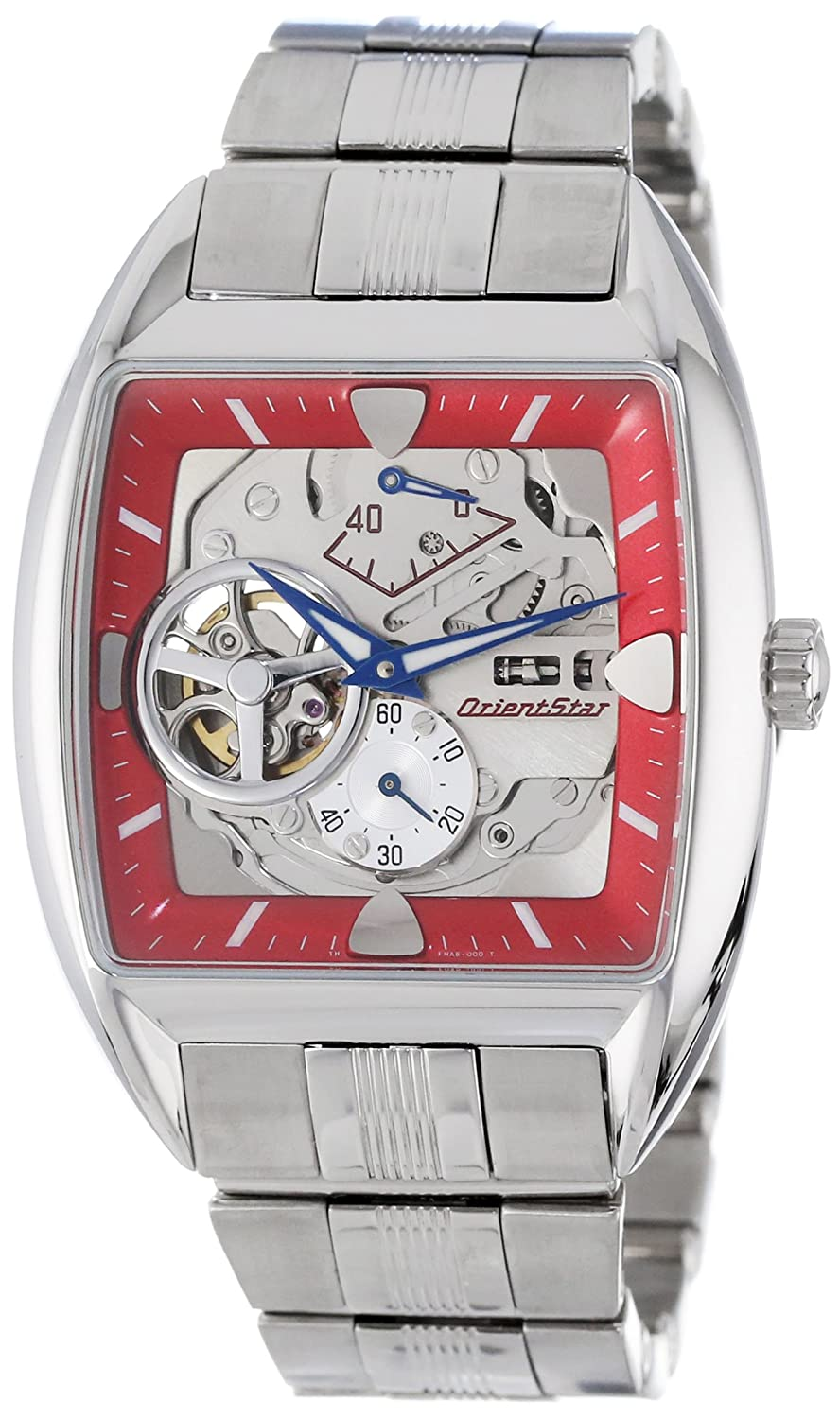 Orient Men s YFHAB001H Star Retro-Future Red Automatic Watch