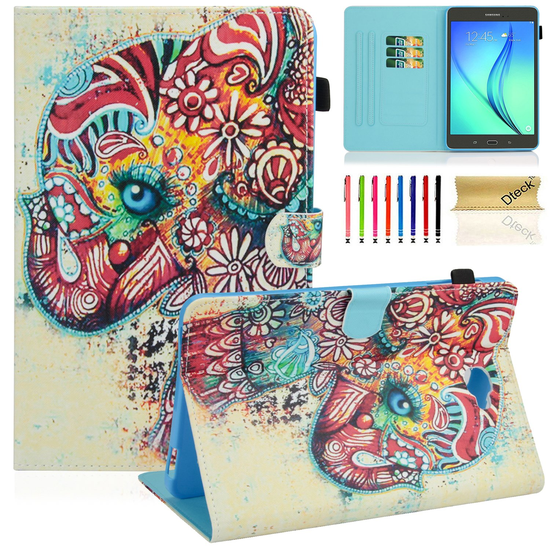 Dteck Samsung Galaxy Tab A 10.1タブレットケース、sm-t585 / t580ケース、マルチ表示スタンドスマートケースカバー自動スリープ/スリープ解除機能付きタブ10.1インチのNo Sペンバージョンタブレット、 10.1 Inch DK-2017 B073QML7MP #0 Baby Elephant #0 Baby Elephant