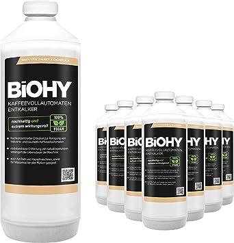 BiOHY Descalcificador de cafetera (9 botellas de 1 litro) | ideal para descalcificar máquinas de café, aprox. 20 operaciones de descalcificación (Kaffeevollautomaten Entkalker): Amazon.es: Salud y cuidado personal