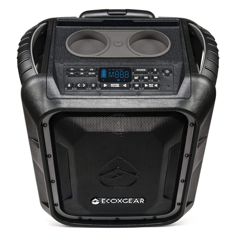ECOXGEAR EcoBoulder+ GDI-EXBLD810 Rugged Waterproof Floating Portable Bluetooth Wireless 100 Watt Speaker and PA System (Gray) by ECOXGEAR