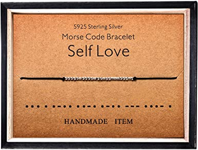 Personalized morse code necklace Secret love message and letters Self gift keep going