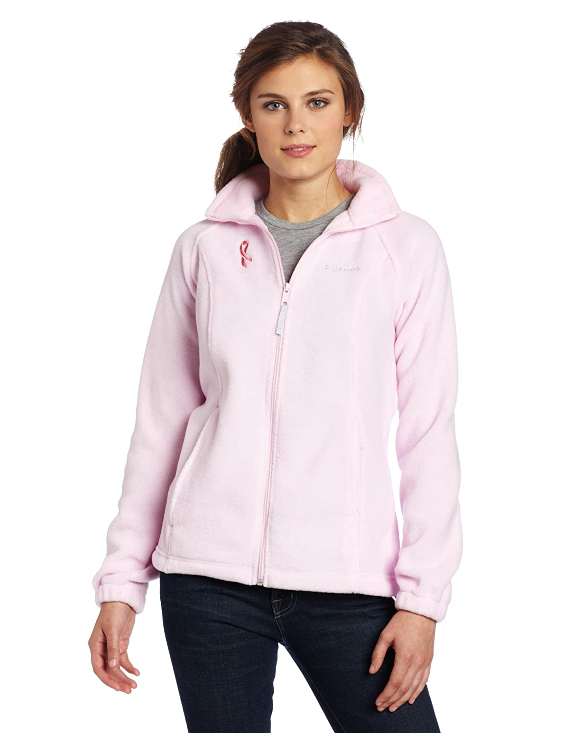 Columbia Womens Tested Tough in Pink Benton Springs Full Zip Jacket