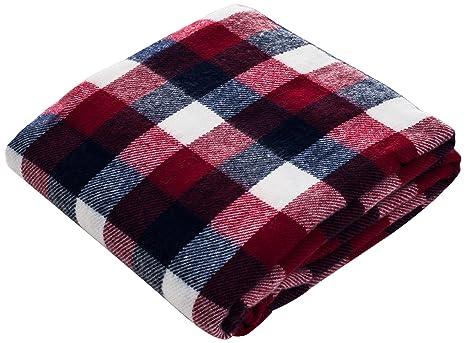 Lavish Home Throw Blanket CashmereLike RedBlueWhite Amazonca Gorgeous Red And Blue Throw Blanket