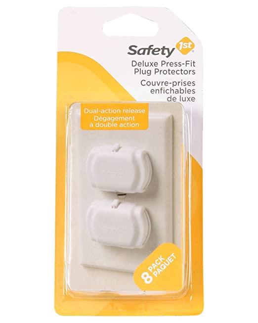 Safety 1st Deluxe Press Fit Outlet Plugs, 8 Count