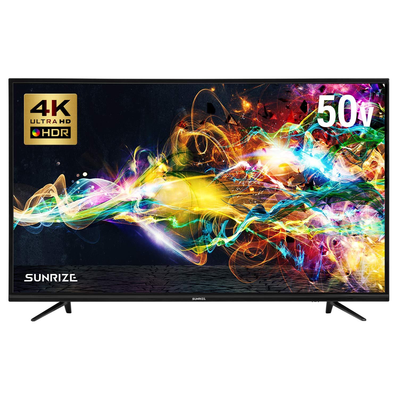 SUNRIZE サンライズ テレビ 50V型 4K対応TV HDR対応 外付けHDD録画対応 直下型LEDバックライト (50V型) B07Q82YY36  50V型