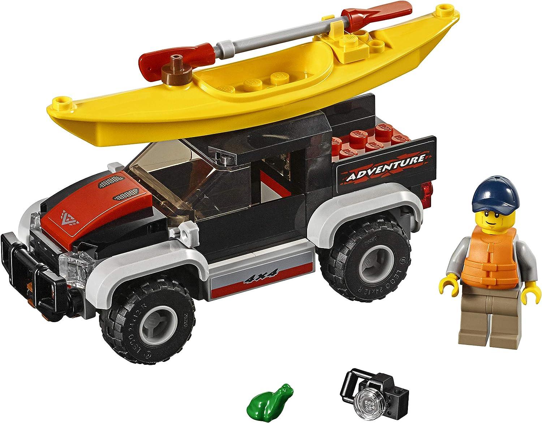 LEGO City Great Vehicles Kayak Adventure 60240 Building Kit 84 Pieces