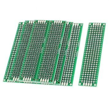 ... 10PCS (2 x 8 cm) Placa PCB Universal de Doble Cara Prototipos Placa de Circuito Panel de circuitos para Soldadura de Bricolaje: Amazon.es: Electrónica