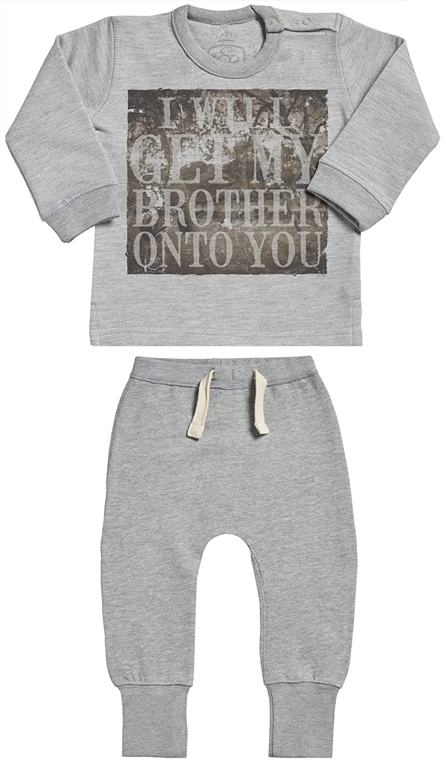 SR Baby Clothing Outfit Baby Gift Set Baby Sweater /& Baby Joggers I Will Get My Brother Onto You Baby Outfit