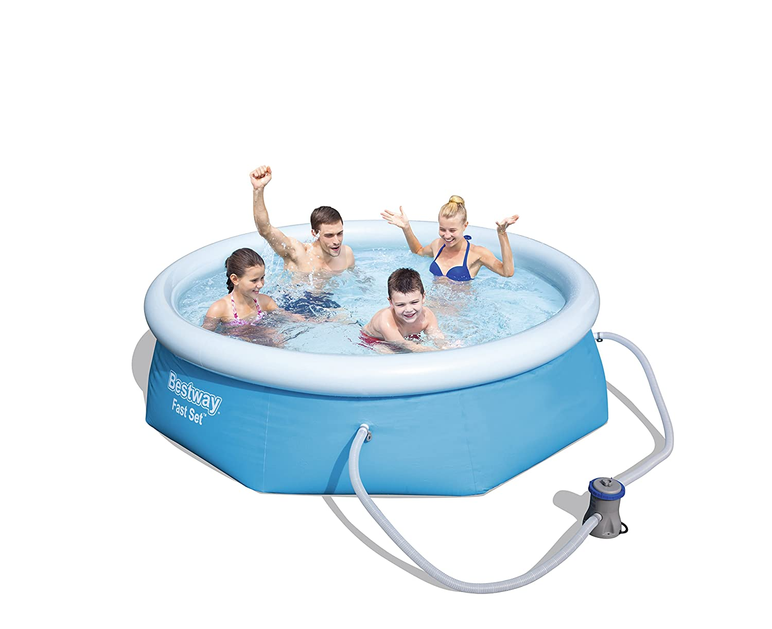 Bestway Fast Set Pool Set Mit Filterpumpe 244 X 66cm: Amazon.de: Garten