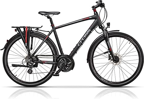 Cross Travel - Bicicleta de trekking para hombre: Amazon.es ...