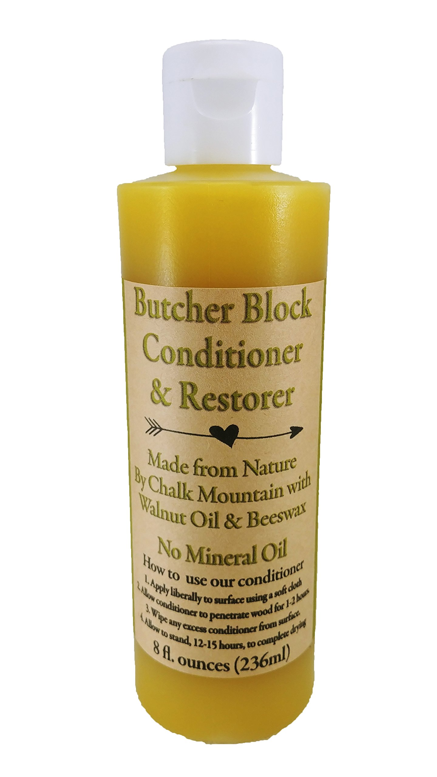 Chalk Mountain Brushes & Waxes Butcher Block Oil Conditioner & Restorer