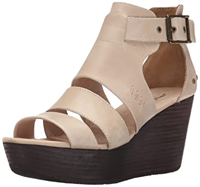 Discounts Caterpillar Paraiso W Open Toe Leather Wedge Heel Khaki For Women Selling Well