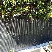 Hengda/® Frangivista Canniccio PVC Paravento privacy Frangivento Recinzione giardino per giardino, balcone e terrazza(180X400cm bamb/ù