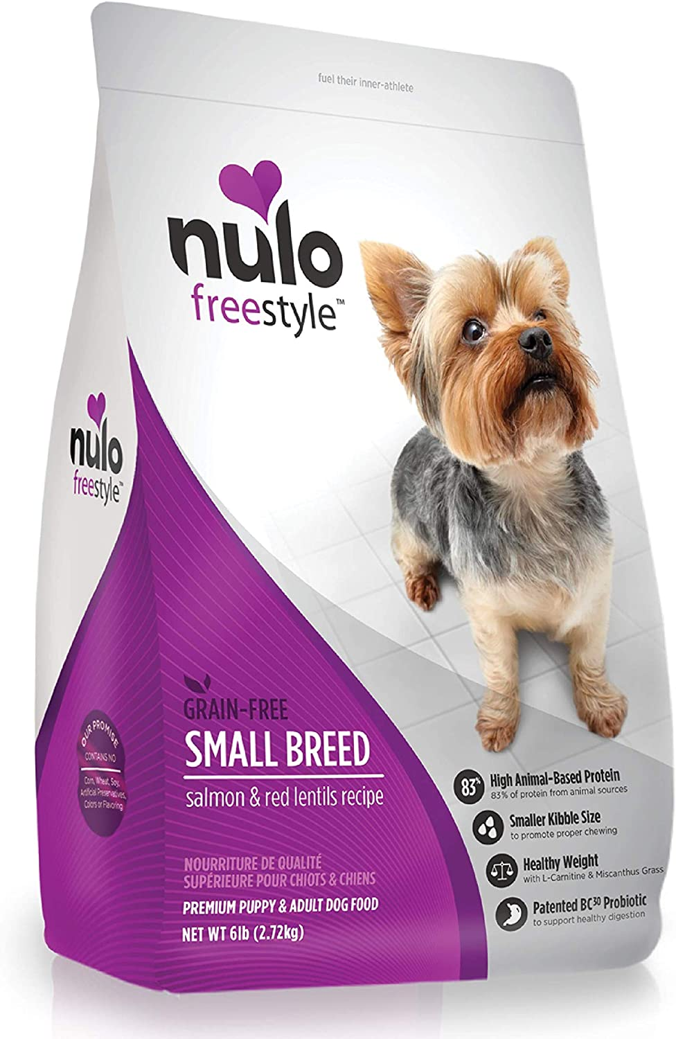 Nulo Small Breed Dry Dog Food - Grain Free, Small Size Kibble with Bc30 Probiotic
