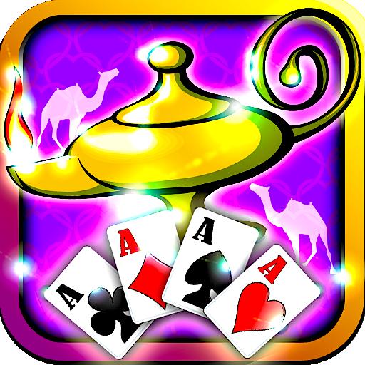 Genie Jackpot Aladdin Solitaire Lamp Magic Stroke Free Solitaire Games for Kindle 2015 Unique Solitaire Classic Original Cards (Bust Lamp)
