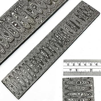 50,8 x 5 acero de Damasco Billet Bar para cuchillo (Escalera ...