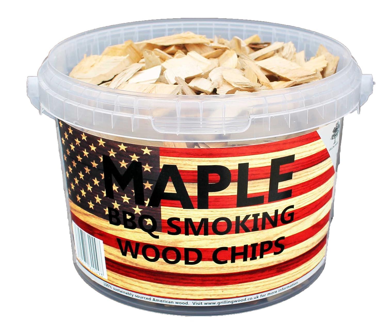 3litres de copeaux de bois pour barbecue ou fumoir Maple Maple Grilling Wood