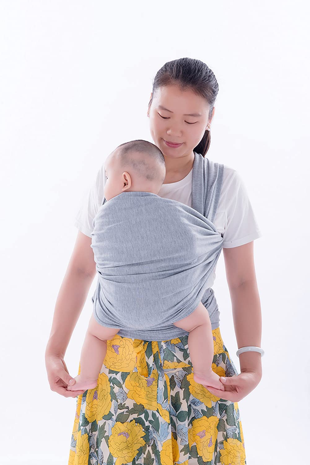 Soft and Comfortable Emwel Baby Wrap Carrier Adjustable Breastfeeding Cover Cotton Sling Baby Carrier for Infants up to 35 lbs//16kg