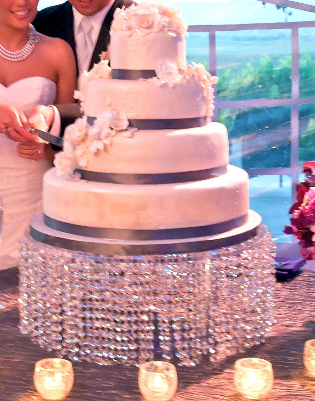 Amazon.com: Forbes Favors ™ Single Acrylic Crystal Chandelier Cake ...