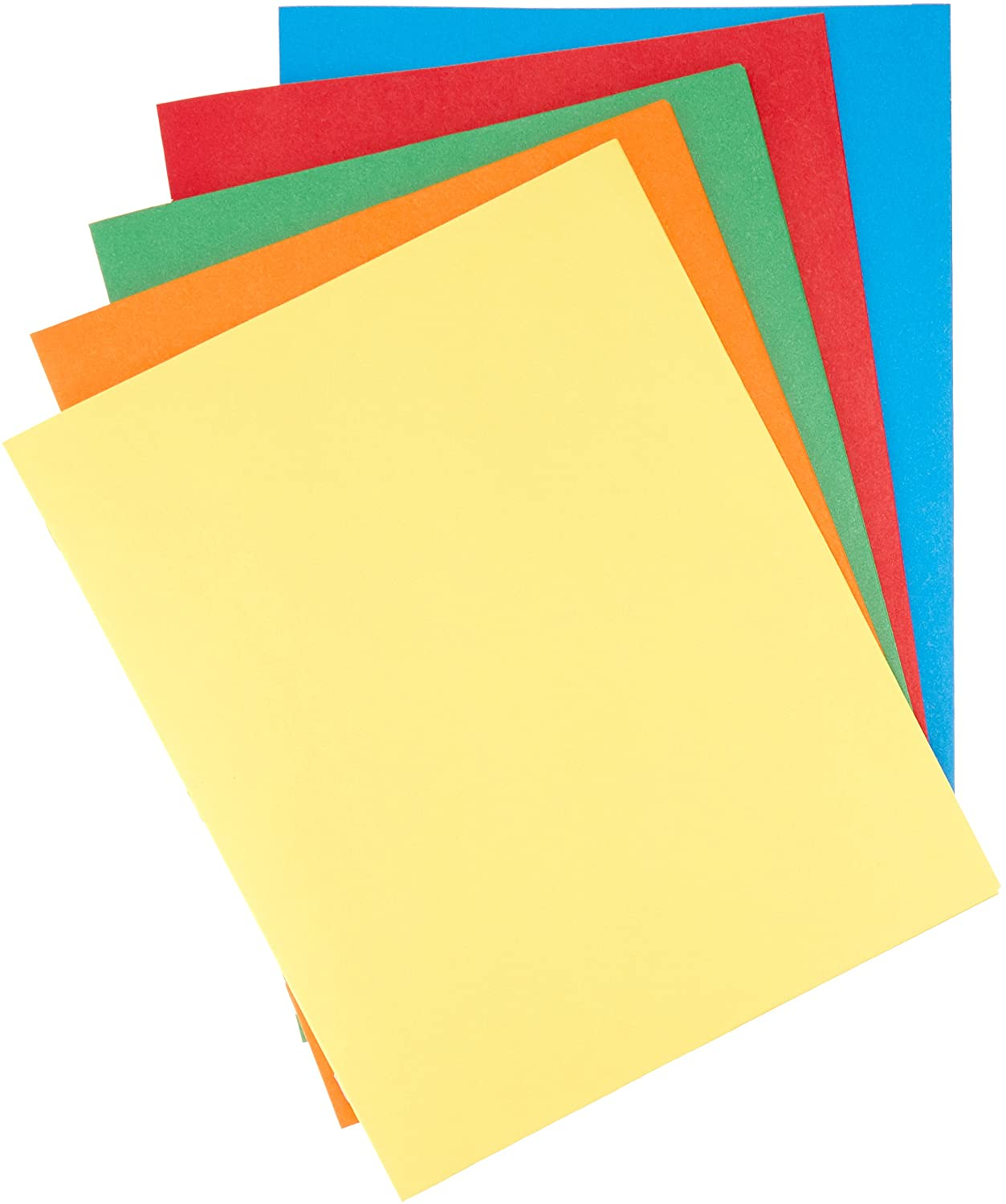 Basics Twin Pocket File Folders with Fasteners, 25-Pack : Office Products