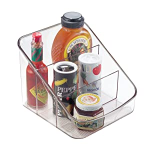 InterDesign Linus Spice Packet Organizer Bin – Storage Container for Kitchen, Pantry, Cabinet or Countertops, Clear