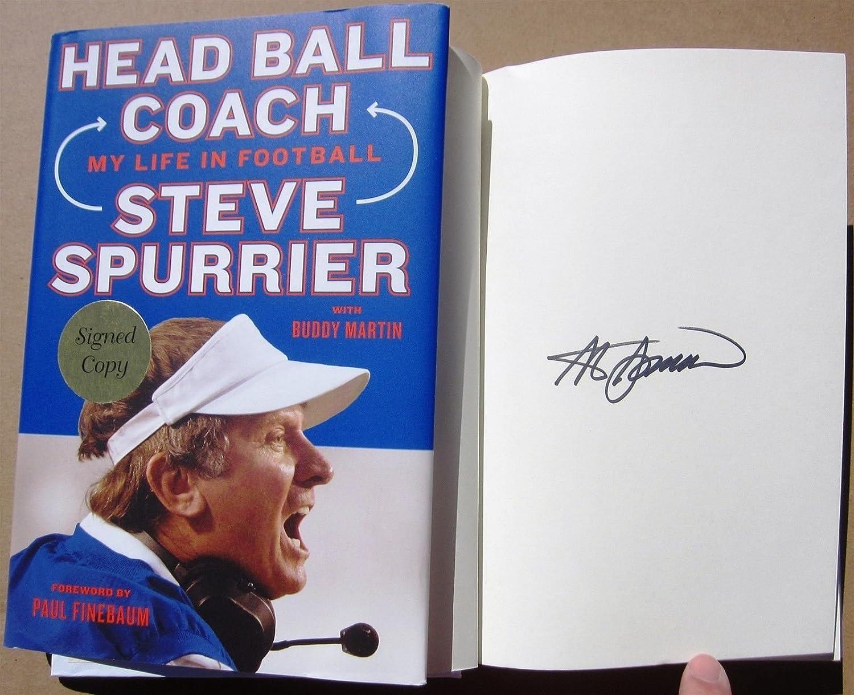 Steve Spurrier Heisman Winner signed book Head Ball Coach 1st Print auto